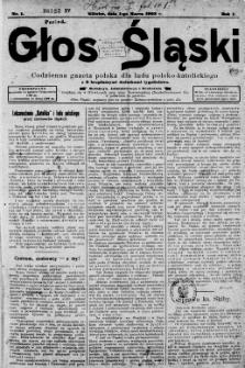 Głos Śląski, 1911, styczeń