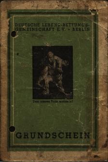 [Grundschein der Deutschen Lebens-Rettungs-Gemeinschaft e.V. Berlin.]