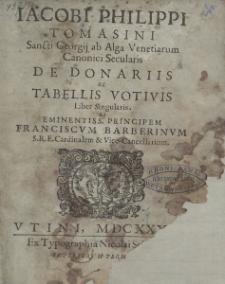 De donariis ac Tabellis votivis