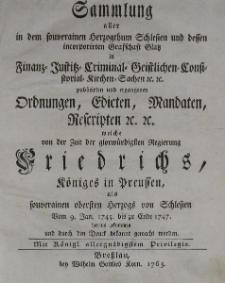 Sammlung aller in dem souverainen Herzoghthum Schlesien t.2