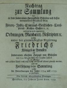 Sammlung aller in dem souverainen Herzoghthum Schlesien t.5