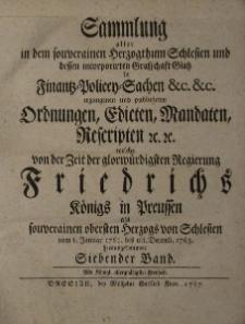 Sammlung aller in dem souverainen Herzoghthum Schlesien t.7