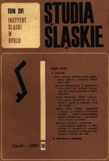 Studia Śląskie. Seria Nowa. T.16
