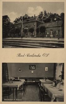 Bad Carlsruhe O.-S. : Bahnhof, Wartesaal II. Klasse [Bahnhofswirtschaft]