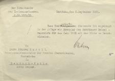 Der Vorsitzende des Kreisausschusses Grottkau : Euer Hochwürden übersende ich...An Herrn Pfarrer Hadelt, Hochwürden in Deutsch-Wette