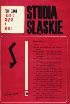 Studia Śląskie. Seria Nowa. T.32