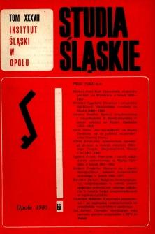 Studia Śląskie. Seria Nowa. T.37