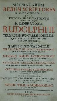 Silesiacarum Rerum Scriptores