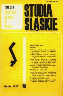 Studia Śląskie. Seria Nowa. T.45