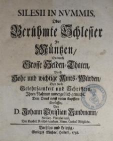 Silesii im Nummis oder Berühmte Schlesier