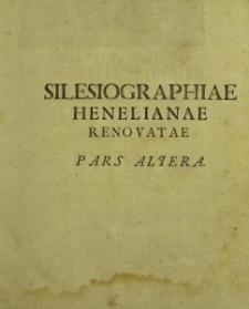 Silesiographia renovata t.II