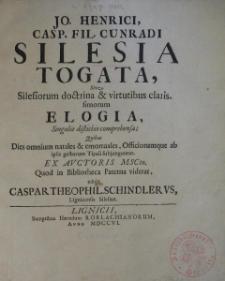 Silesia Togata sive Silesiorum doctrina