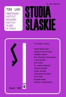 Studia Śląskie. Seria Nowa. T.71