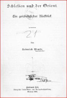 Schlesien und der Orient : ein geschichtlicher Rückblick