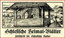 Schlesische Heimatblätter : Zeitschrift für schlesische Kultur, 1910-1911