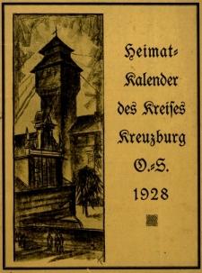 Heimatkalender für den Kreis Kreuzburg auf das Jahr, 1928