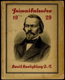Heimatkalender für den Kreis Kreuzburg auf das Jahr, 1929