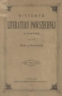 Historya literatury powszechnej w zarysie. Tom II