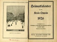 Heimatkalender für den Kreis Oppeln, Jg.1