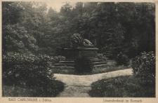 Bad Carlsruhe i. Schl. : Löwendenkmal im Kurpark