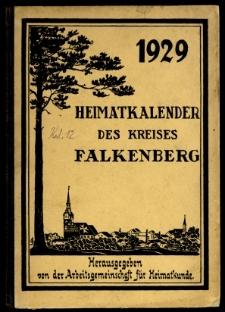 Heimatkalender des Kreises Falkenberg, 1929