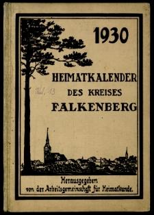 Heimatkalender des Kreises Falkenberg, 1930