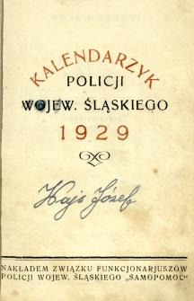 Kalendarzyk Policji Województwa Śląskiego, 1929