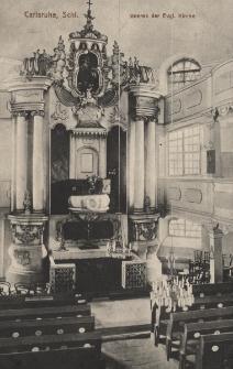 Carlsruhe, Schl. : Inneres der Evgl. Kirche
