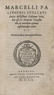 Zodiacus vitae, hoc est, De hominis vita, studio, ac moribus optime instituendis Libri XII