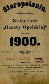 Staropolanin : kalendarz Gazety Opolskiej 1900
