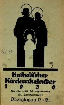 Katholischer Kirchenkalender für das Jahr 1930