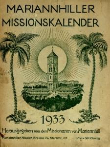Mariannhiller Missionskalender : Gewidmet unsern Wohltätern Freunden und Sönnern in der Heimat...