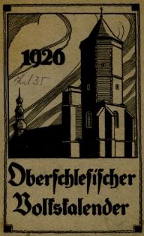 Oberschlesischer Volkskalender, 1926