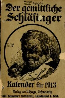 Der Gemittliche Schläsinger : Kalender für die Provinz Schlesien, 1913