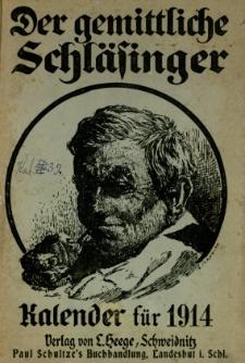 Der Gemittliche Schläsinger : Kalender für die Provinz Schlesien, 1914