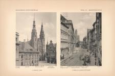 Tafel 173 Gesamtansichten : Liegnitz Ring (Rathaus, Peter-Paulkirche, Kaufhaus) ; Breslau Albrechtstrasse (Oberpräsidium, Ceslaus-Kapelle, Adalbertkirche, Hauptpost)