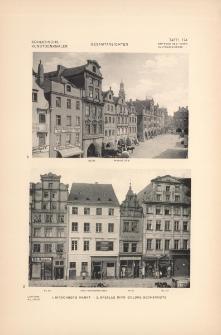 Tafel 174 Gesamtansichten : Hirschberg Markt ; Breslau Ring Goldne Becherseite