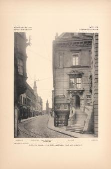 Tafel 179 Gesamtansichten : Görlitz Blick in die Brüderstrasse vom Untermarkt (Schönhof, Der Mönch, Reichenbacher Thorturm, Rathaus, Ratsturm)