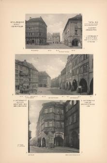 Tafel 180 : [Neisse] Untermarkt in Richtung auf die Peter-Strasse ; Untermarkt aus der Richtung der Brüderstrasse ; Untermarkt von der Brüderstrasse her