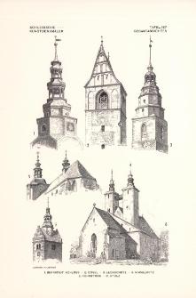Tafel 187 Gesamtansichten : Bernstadt Schloss ; Cosel ; Leobschütz ; Himmelwitz ; Rohnstock ; Stolz