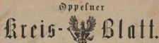 Oppelner Kreisblatt, 1885/86
