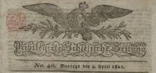 Schlesische Privilegierte Zeitung, 1821