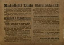 Katolicki Ludu Górnośląski!