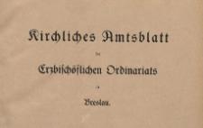 Kirchliches Amts-Blatt des Fürstbischöflich en Ordinaris in Breslau, 1930-1931