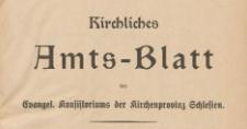 Kirchliches Amts-Blatt des Evangel. Konsistoriums der Kirchenprovinz Schlesien, 1931