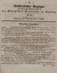 Öffentlicher Anzeiger als Beilage des Amtsblatts der Königlichen Regierung zu Oppeln, 1842