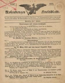 Rosenberger Kreisblatt, 1888