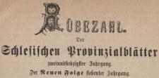 Rubezahl Der Schlesischen Prowinzialblatter, 1872
