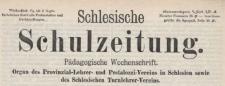 Schlesische Schulzeitung, 1892