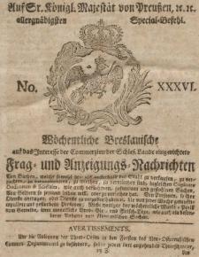 Wochentliche Breslauische und auf das Interesse der C mmerzien der Schlesischen Lande ...1801, VII